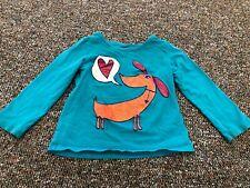 Okie Dokie Glitter Dog & Heart Shirt 2T
