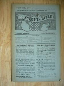 The Draughts World A Monthly Magazine Vol 38 No 180 1911 SCARCE