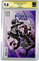 Web of Venom Funeral Pyre Crain MIDTOWN COMICS EDT CGC 9.8 Signed By CULLEN BUNN