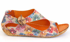 Hush Puppies Sandale 45 LEDER Ballerina Beige Rot Blau Bunt Schuh Schuh F NEU