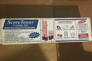 Score Tower Combo Set Corn Hole Score Board Games Backyard BBQ Beverage Holder