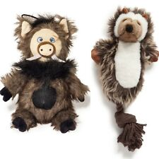 MOE & WILBUR 2 pack - Danish Design Mole Wild Boar dd Plush Dog Toy Pet Play Set
