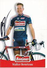 CYCLISME carte cycliste WALTER BENETEAU équipe BONJOUR 2000 signée
