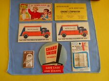 Lot Of Vintage Advertising Sewing Needle Books, Grand Union,Gulf Oil,Sewing Susa