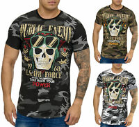 Herren T-Shirt Poloshirt Shirt Camouflage Kurzarm Printshirt Polo 992 John Kayna
