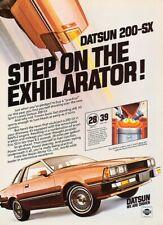 1981 Datsun 200-SX 200SX nissan Original Advertisement Print Art Car Ad J421