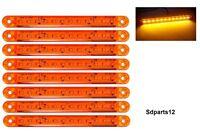 8 Pezzi 24/12V Arancio 7'' Luce Ingombro Freccia Basso Consumo Camion Van