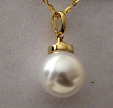 TOP LEVEL 14K solid gold 8.5MM JAPANESE AKOYA SALTWATER PEARL PENDANT