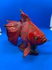 Royal Doulton Rare Flambe Gansu Fish Ba 39! Stunning! Mint!