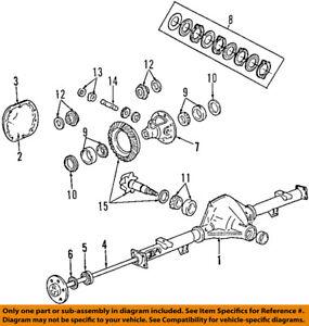 FORD OEM 87-02 E-150 Econoline Club Wagon Rear-Axle Shaft YC2Z4234CB