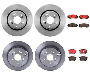 Front and Rear Full Brembo Brake Kit Disc Rotors Ceramic Pads For Honda CR-V AWD