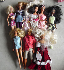 Lot of 9 Modern Barbie Ken and Friends and Others Dolls LOOK