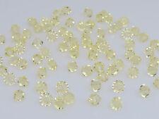 150 Pcs. Genuine Swarovski® Crystal Bicone Beads, Art# 5301 / 5328 5Mm, Jonquil