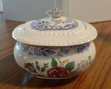 Sugar Bowl with Lid - Mayflower ( Floral, Lavender ) - Older - Copeland Spode