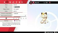 Pokemon Sword & Shield Gigantamax Meowth 6IV Any Nature (event Pokemon)