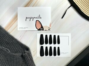 20 Pcs Matte Black Press On Nails | Fake nails | False nails | Gel nails