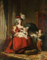 Marie-Antoinette, reine de France et ses enfants (Vigée-Le Brun) - poster métal