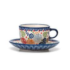 Bunzlauer Keramik Tasse mit Untertasse 200ml KOKU Unikat Modern signiert