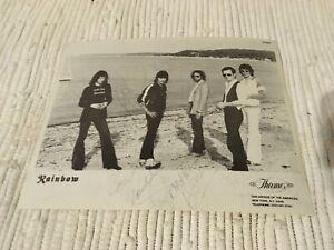 Rainbow Band Ritchie Blackmore Autographed promo 8x10  DEEP PURPLE DIO