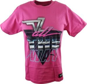 Dolph Ziggler All The Way WWE Authentic Mens Pink T-shirt