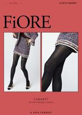 FIORE CABERET 3 D PATTERNED DESIGNER 60 DENIER PANTYHOSE TIGHTS 3 SIZES