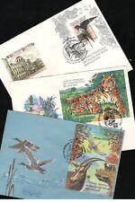 Russia/USSR 1986/90/92. 3 FDC Fauna
