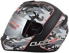 LS2 Helmets - FF352 - Camo Matt Black Red - Full Face Imported Motorcycle Helmet