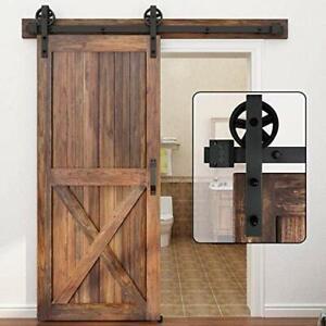WINSOON 150cm Sliding Door Track Barn Door Sliding Kit Sliding Wood Door