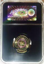 APCGS GRADED MS-62 2013 $2 CORONATION COIN PURPLE STRIPE UNC