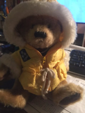 JOINTED TALKING ICEBERG AUGIE PLUSH STUFFED TEDDY BEAR-WITH PARKA, backpack
