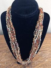 Handmade Crocheted Adjustable Ladder Ribbon Necklace - Butterum Twinkle