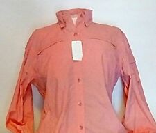 NEW World Wide Sports Women's Long Sleeve Solid Fishing Shirt Size Medium