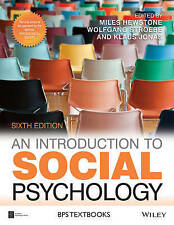 An Introduction to Social Psychology by John Wiley & Sons Inc (Paperback, 2015)