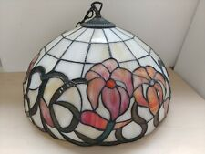 Large Tiffany Style Ceiling Lamp Shade and Chain 40cm Diameter @22A