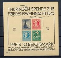 SBZ Block 2 t Thüringer Weihnachtsblock postfrisch tiefst geprüft (xs118)