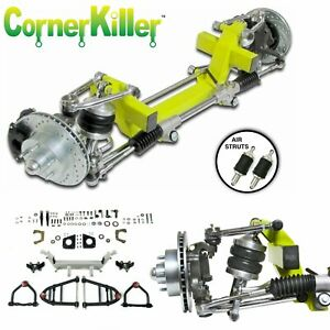 "46-54 Willys Panel C Frame CornerKiller IFS AeroShock 2"" Drop 5x5 Power LHD Rack"
