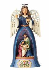 New JIM SHORE Figurine WINGED ANGEL Folk Art NATIVITY BABY JESUS Holiday Statue