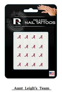 University Alabama Crimson Tide Peel & Stick Nail Fingernail Art Decals Tattoos