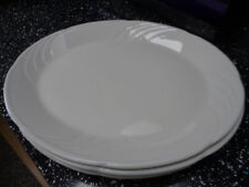 DUDSON VITRIFIED WHITE OVAL PLATES / PLATTERS X 4