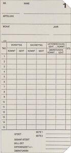 100 Stück Zeiterfassung Karte Stempeluhr Seiko QR-350/ QR-550 / QR-6550 / QR-395