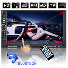 """7"""" HD Double 2 DIN Car In Dash Touch Screen Bluetooth Stereo FM MP5 Radio Player"""