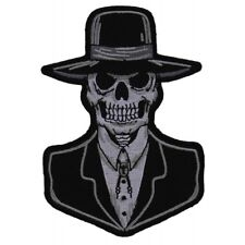 PREACHER SKULL - IRON or SEW ON PATCH