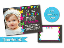 Printable Butterfly Birthday Party Invitation Customizable