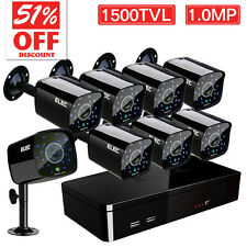 ELEC 8CH 1500TVL 960H Surveillance Security Camera System IR Cut HDMI DVR CCTV