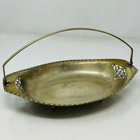 Vintage EPNS Decorative Stylish Silver Plated Fruit Plate Tray with Handle