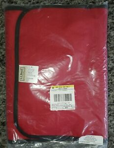 LL BEAN Large Pull Sled Cushion/Seat Cover Red Black Buffalo Plaid NEW SEALED