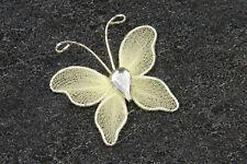 10 Petits papillons ivoire. Décoration de mariage