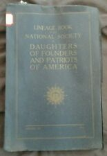 1931 Patriots of America Index  Daughters of Founders Genealogy Antique Lineage