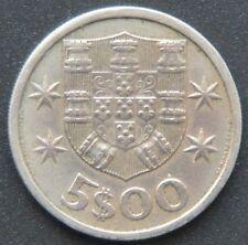 Portugal 5 escudos 1965 además: 50 centavos 1975, 1 1970 escudo