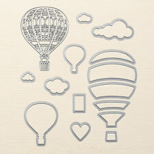 Stampin Up Sizzix UP & Away Thinlits Dies NEW - Hot Air Balloon Clouds